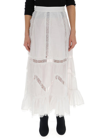 Wandering Embroidered Lace Skirt