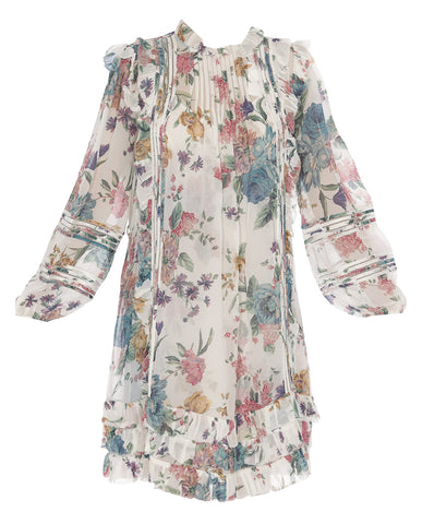 Zimmerman Floral Pleated Mini Dress