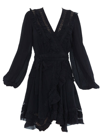 Zimmermann Ruffle-Detail Wrap Dress