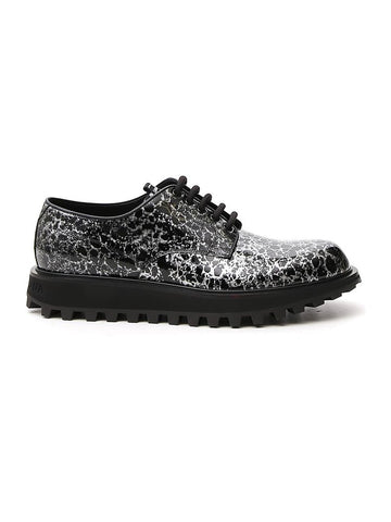 Dolce & Gabbana Splatter Effect Lace-Up Shoes