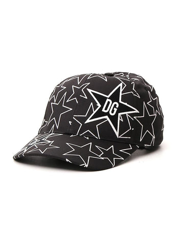 Dolce & Gabbana Star Printed Logo Patch Baseball Cap