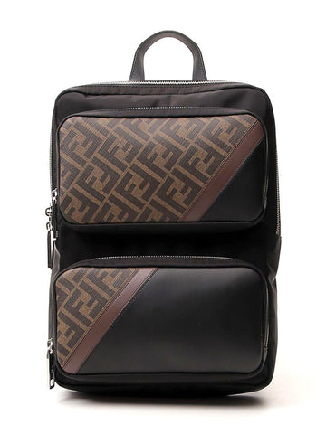 Fendi FF Panelled Backpack