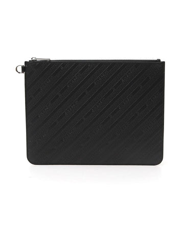 Givenchy Logo Stripe Embossed Clutch Bag