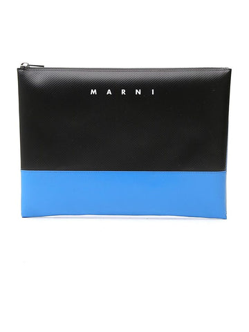 Marni Logo Two Tone Clutch Bag