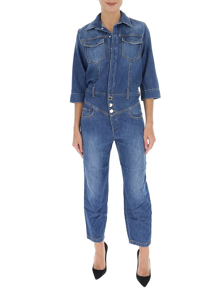 Pinko Straight-Leg Denim Jumpsuit