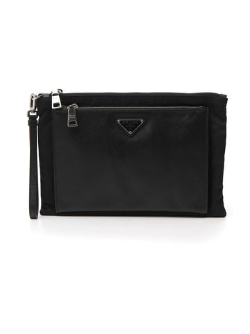 Prada Double Pocket Wrist Band Pouch