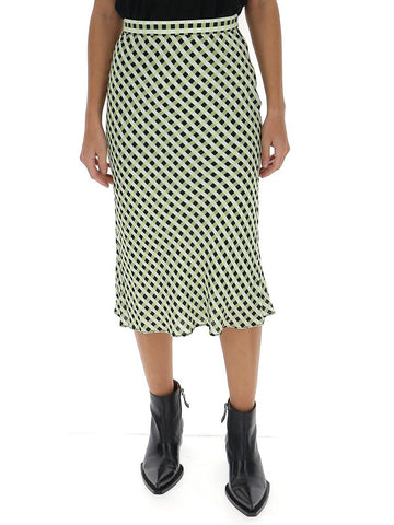 Proenza Schouler Check Georgette Skirt