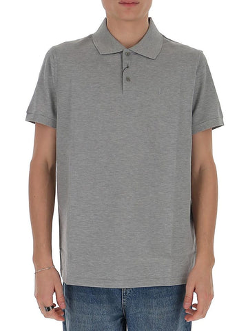 Saint Laurent Cuffed Sleeves Polo Shirt