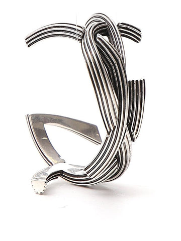Saint Laurent Braided Monogram Cuff