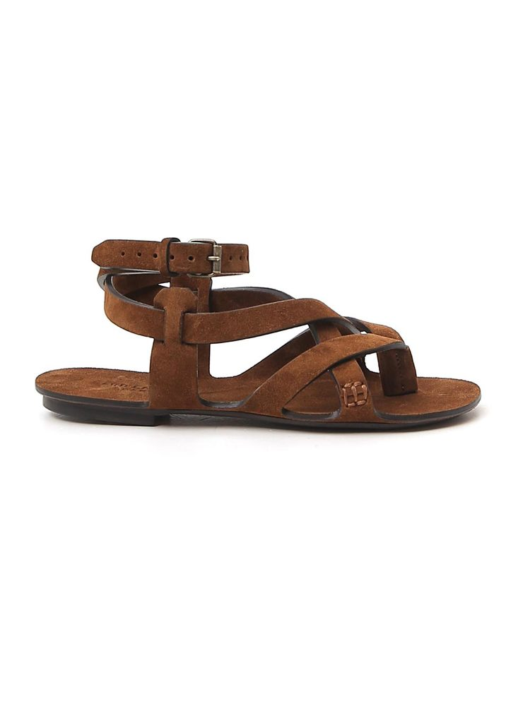 Saint Laurent Crossover Strapped Sandals