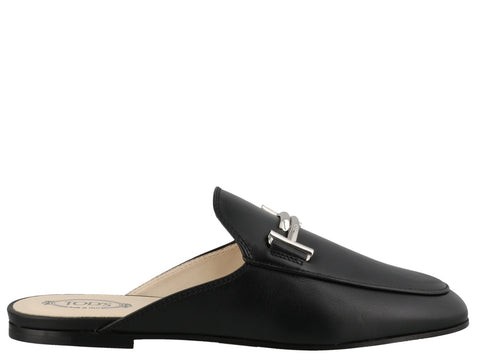 Tod's Monogram Plaque Mules