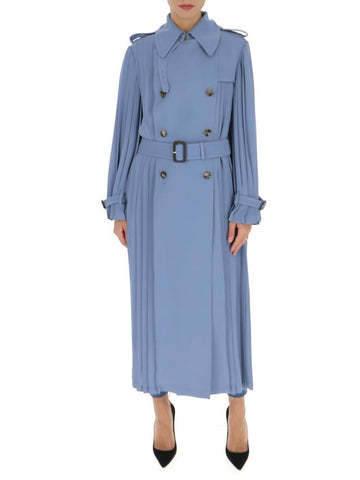 Valentino Pleated Trench Coat