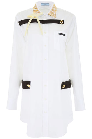 Prada Embellished Shirt Dress