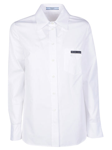 Prada Backless Button-Up Shirt