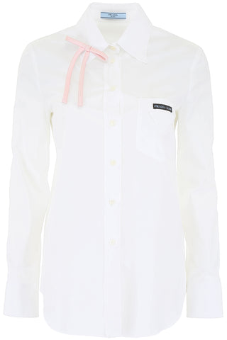 Prada Bow Detail Compact Shirt