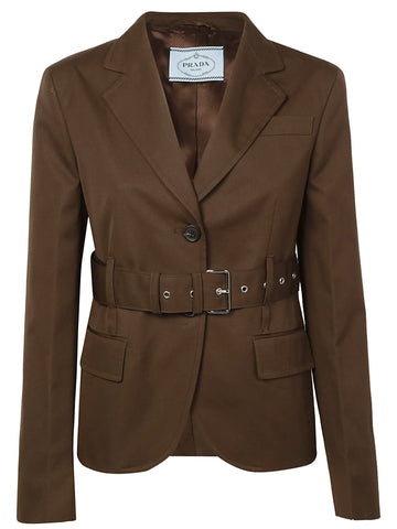 Prada Belted Tailored Jacket
