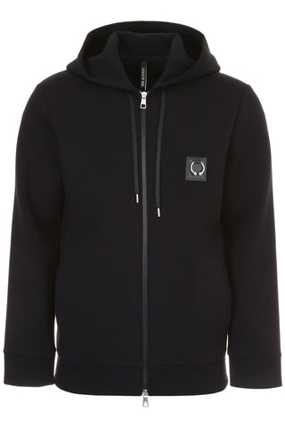Neil Barrett Ring Patch Zipped Hoodie