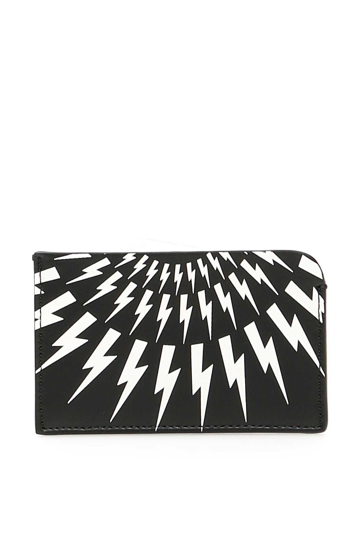 Neil Barrett Accessories NEIL BARRETT LIGHTENING BOLT PRINT CARDHOLDER