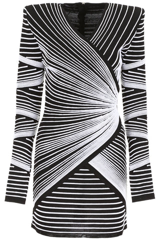 Balmain Pattern Print Mini Dress