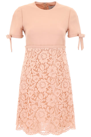Valentino Lace Bow Detailed Mini Dress
