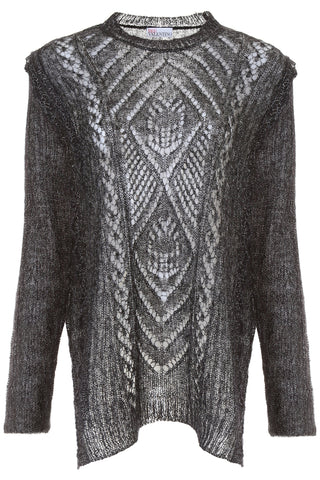 Red Valentino Perforated Knit Pullover