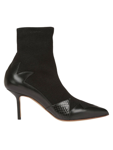 Francesco Russo Pointed Toe Sock Boots