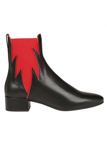 Francesco Russo Contrast Side Panel Ankle Boots