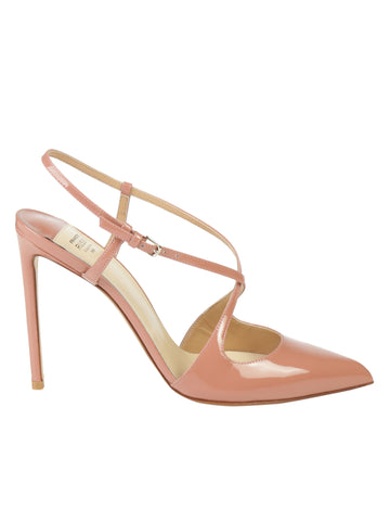 Francesco Russo Cross Strap Heeled Pumps