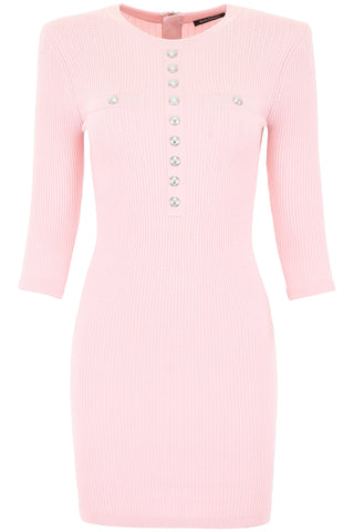 Balmain Structured Shoulders Mini Dress