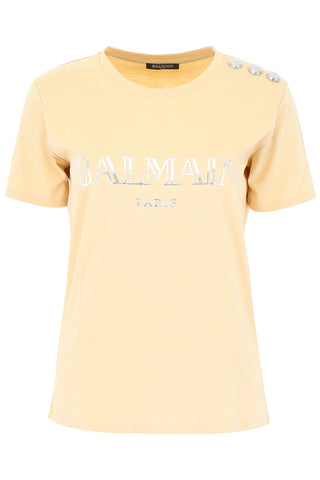 Balmain Logo Fitted T-Shirt