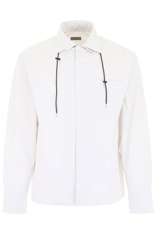 Lanvin Drawstring Collar Oversized Shirt