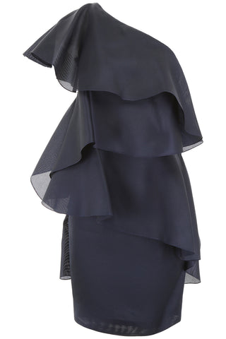 Lanvin One-Shoulder Ruffle Dress