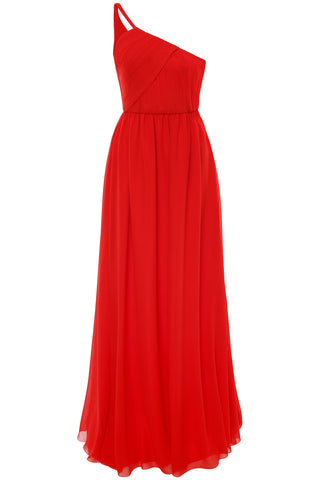 Lanvin Asymmetric Silk Gown