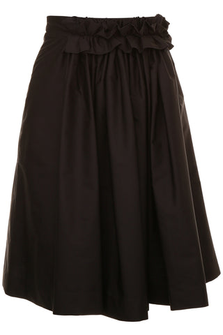 Lanvin Cotton Voile Midi Full Skirt