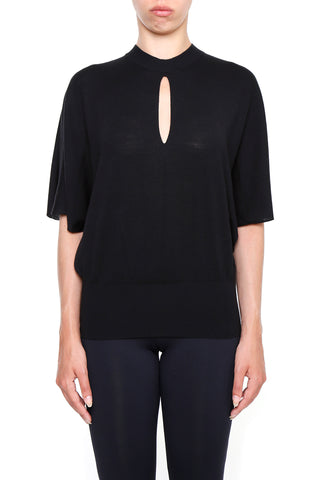 Lanvin Cut-Out Detail Short Sleeve Jumper