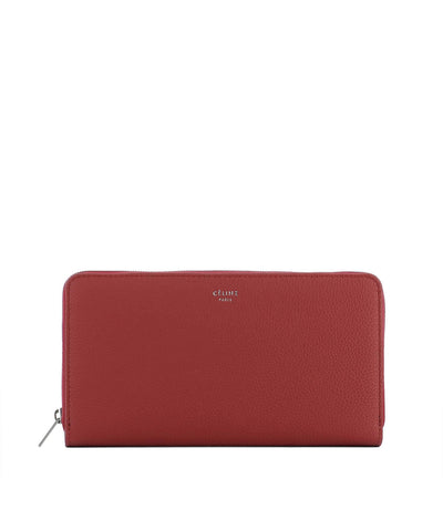 Céline Large Drummed Leather Wallet