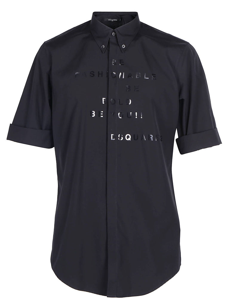 Dsquared2 Typography Printed Shirt