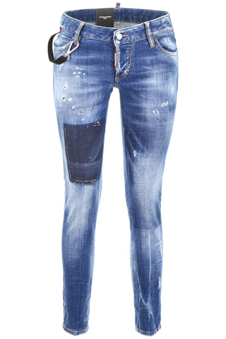 Dsquared2 Jennifer Distressed Cropped Jeans