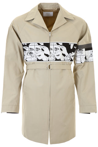 Prada Panel Insert Trench Coat