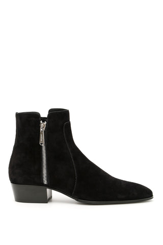 Balmain Mike Side Zip Ankle Boots