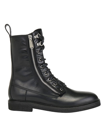 Balmain Zipped Lace-Up Boots