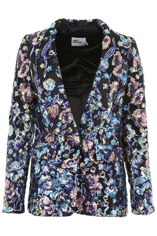 Self-Portrait Floral Embroidered Blazer
