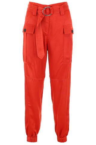 Self-Portrait Cuffed Cargo Trousers