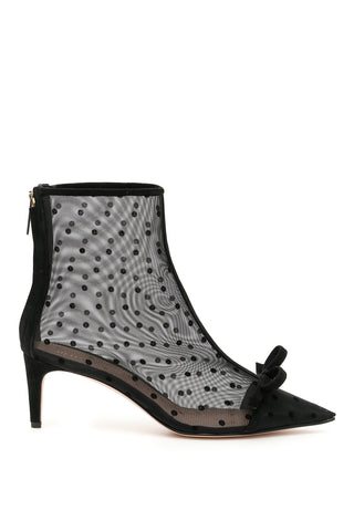 Red Valentino Bow Detailed Mesh Boots