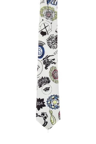 Burberry Medallion Print Silk Tie