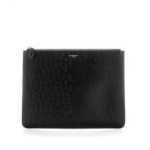Givenchy Paris Logo Embossed Pouch