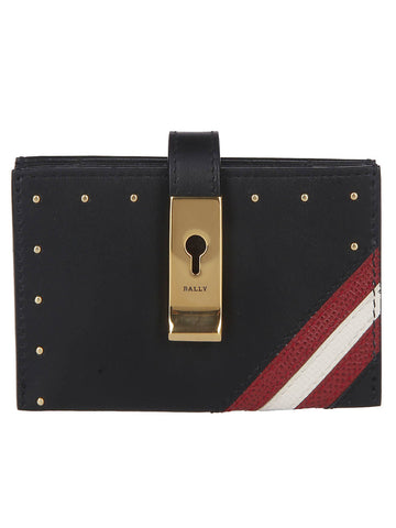 Bally Studded Stripe Wallet