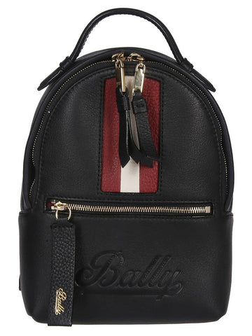 Bally Logo Embossed Stripe Backpack