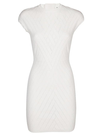 Balmain Patterned Fitted Mini Dress