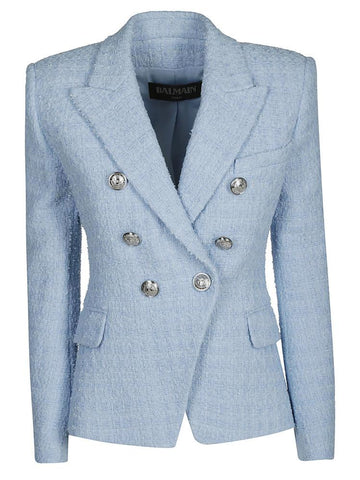 Balmain Tweed Double-Breasted Blazer